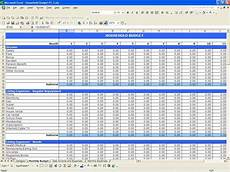 Household Expense Spreadsheet Template Free Household Budget Excel Templates