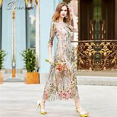 embroidery dress dosoma embroidery ruway floral bohemian