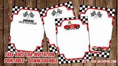 Free Printable Race Car Birthday Invitations Free Printable Race Car Invitation Templates Free