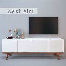 3d west elm modern media console cgtrader
