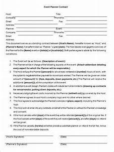 Event Planner Contract Templates Event Planner Contract Template For Word Word Amp Excel