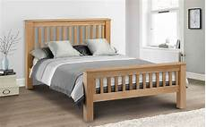 amsterdam oak bed frame high foot end