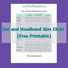 Foe Headband Chart Oui Crochet Hat And Headband Size Chart Free Printable