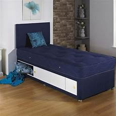 single divan bed with tufted mattress