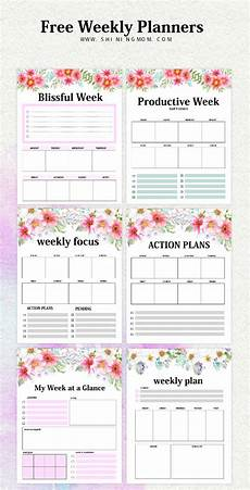 Planners Weekly Monthly Weekly Planner Template 15 Free Brilliant Designs