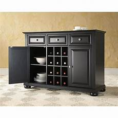 black wood sideboard buffet dining serving table cabinet