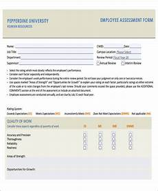 Employee Assessment Form Free 44 Assessment Forms In Pdf Ms Word Excel