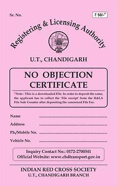 No Noc No Objection Certificate For Old Vehicles In Chandigarh