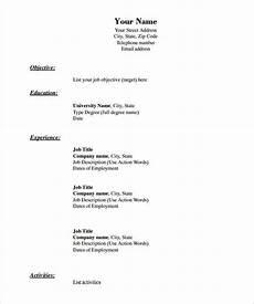 Blank Cv Format Download Free Resume Templates Blank Free Printable Resume Basic