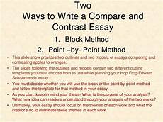 Point By Point Compare And Contrast Essay 006 Essay Example Comparison Contrast Outline Compare And