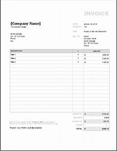 Contract Invoice Template 4 Customizable Invoice Templates For Excel Word Amp Excel