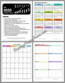 Planner Template 2020 Free 2020 Diy Calendar Planner Printables