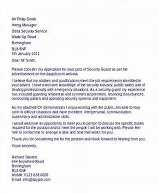 Cover Letter For Security Position Security Guard Cover Letter 9 Free Word Pdf Format