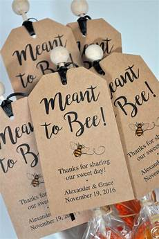 Wedding Favor Tags Meant To Bee Bridal Shower Favor Tags Rustic Wedding