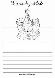 ausmalbilder wunschzettel weihnachtsbaum schm 252 cken