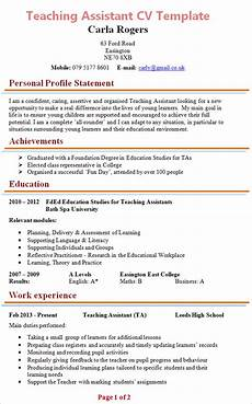assistant cv sample teaching assistant cv example
