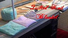 machine knit quilted blanket