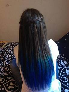 Dark Brown Hair Dip Dyed Light Brown Dark Brown Hair Blue Dip Dye Dip Dye Hair Hair Dye Tips
