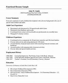 Sample Format Of Resume For Job Free 9 Sample Job Resume Templates In Ms Word Pdf