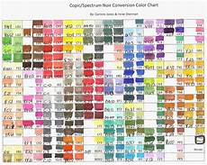 Caliart Markers 100 Color Chart Copic Marker Spectrum Noir Color Conversion Chart Wish