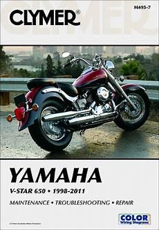 Yamaha V Star 650 Repair Service Manual 1998 2011 Clymer