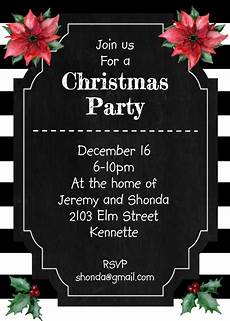 Black And White Christmas Invitations Over 3 000 Original Christmas Party Invitations For Your