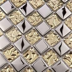 discount kitchen backsplash tile mosaic tile mirror metal silver 23mm square discount