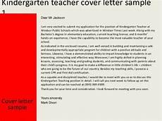 Cover Letter For Kindergarten Teacher Kindergarten Teacher Cover Letter