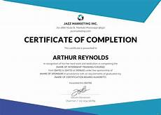Certification Of Completion Template Free Course Completion Certificate Template In Adobe