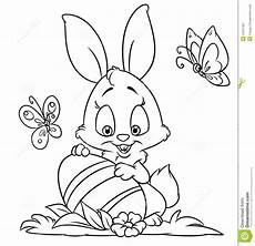 happy easter bunny coloring pages stock illustration