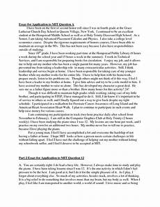 Samples Of College Essays College Admission Essay Examples Free Writings And