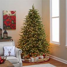 7 5 Foot Dual Light Christmas Tree National Tree Pre Lit 7 1 2 Quot Feel Real Quot Nordic Spruce