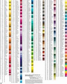 Dmc Chart Chart For Converting Pantone Colors To Dmc Floss Colors