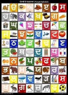 Punjabi Grammar Charts Learn Punjabi Alphabet Punjabi Bilingual Alphabet For