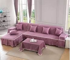 Cover For Sofa 3 Seats 3d Image by Aliexpress Buy Korean Style Solid Purple Printing