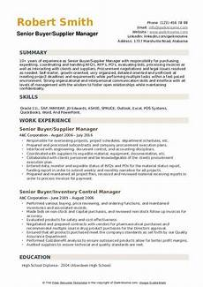 Sample Buyer Resume Senior Buyer Resume Samples Qwikresume