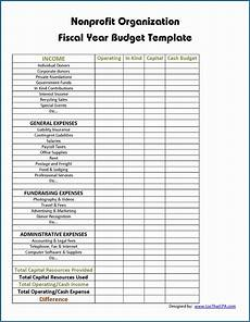 Budgeting For Non Profit Free Printable Non Profit Operating Budget Template