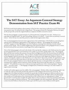 Essay Examples For Sat The Sat Essay An Argument Centered Strategy Argument