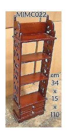 etagere legno etagere in legno di mogano con 4 ripiani e due cassetti in