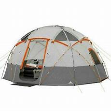 camping tent with built in lights ozark trail 12 person base camp tent with built in led