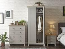 gfw lancaster light grey and oak 3 bedroom furniture