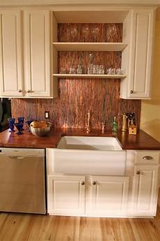 backsplash kitchens stunning copper backsplash for modern kitchens