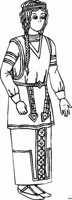 indianer frau 2 ausmalbild malvorlage phantasie