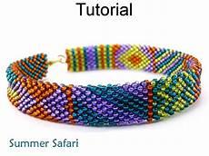 beading tutorial pattern bracelet brick stitch simple