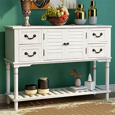 farmhouse console table wood sofa table with storage