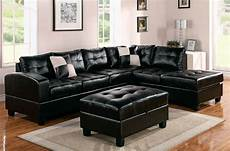 Black Sectional Sofa 3d Image by Modern Black Leather Sectional Sofa Home Furniture Design