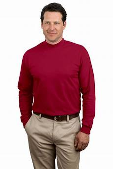mens mock neck sleeve shirts port company shirt sleeve mock turtleneck pc61m new