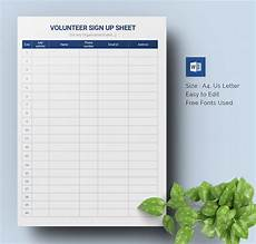 Volunteer Sign Up Sheet Sign Up Sheets 64 Free Word Excel Pdf Documents