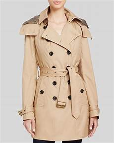 hooded trench coats for burberry reymoore hooded cotton trench coat in lyst