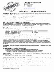 Lawn Care Contracts Samples Lawn Care And Landscape Maintenance Contract Pdf Fill